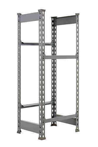 Getränkehalter, 1000 x 410 x 300 mm, 2 Ebenen, maximale Tragkraft 100 kg, Grau