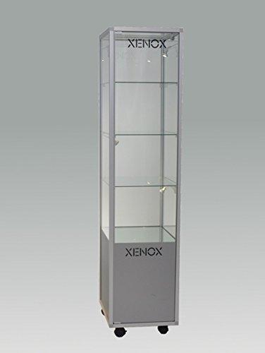 MHN Glasvitrine abschließbar hoch mit Staufach ohne Beleuchtung - ca.40 cm breit 40 cm tief