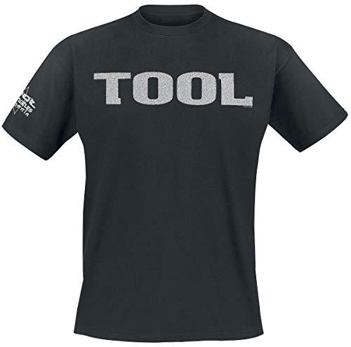 Tool Metallic Silver Logo Männer T-Shirt schwarz L 100% Baumwolle Band-Merch, Bands