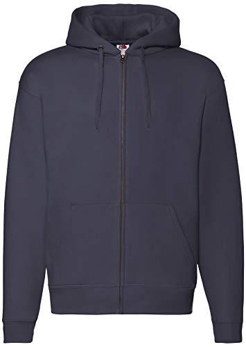 Fruit of the Loom Premium Hooded Sweat Jacket Herren Kapuzen Sweatjacke NEU, Farbe:deep Navy, Größe:L