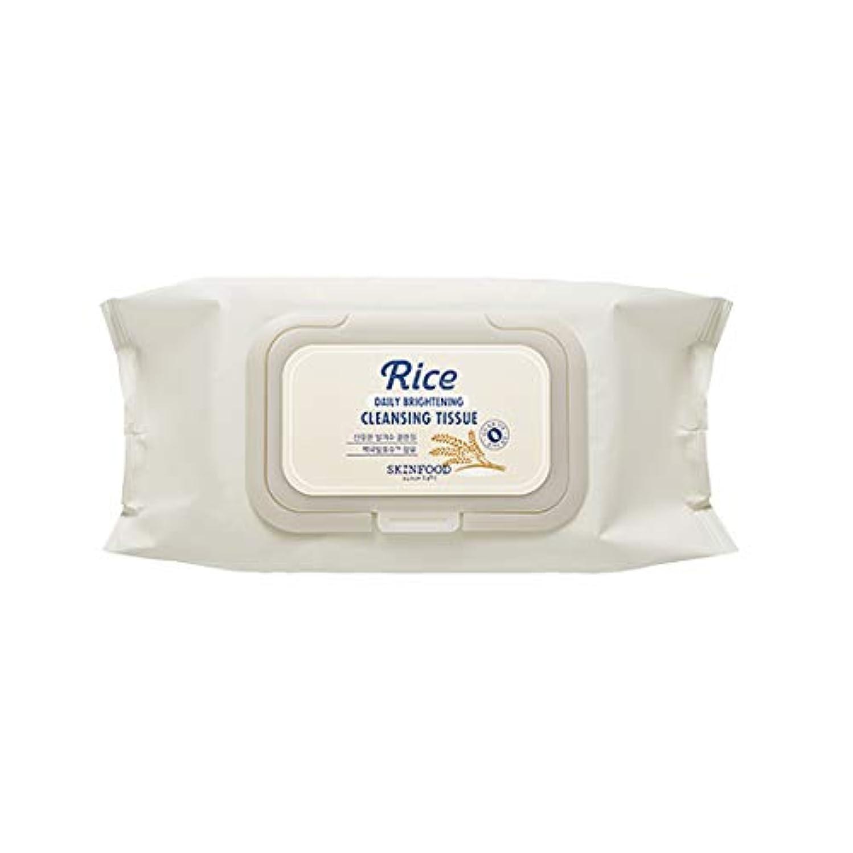 暫定操る抽象Skinfood/Rice Daily Brightening Cleansing Tissue/ライスデイリーブライトニングクレンジングティッシュ/380ml [並行輸入品]