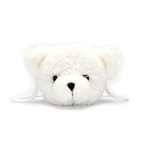 IADZ Bolsa de Dibujos Animados, Kawaii Bear Plush Cartoon Bag con Personal Cartoon Animal Messenger Bag para Regalo de niños