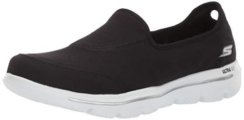 Skechers Women GO Walk Evolution Ultra-Legacy Sneaker, Black/White, 5 M US