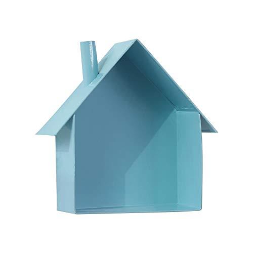 Estantería de madera en forma de casa, caja de madera en forma de casa con estante de madera para arte de pared, unidad de almacenamiento, unidad de exposición, soporte libre