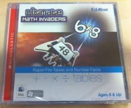 Ultimate Math Invaders Rapid-Fire Tables and Number Facts PC or Mac Computer Game for Ages 5 and Up