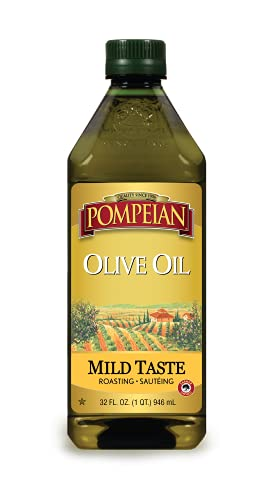 Pompeian Classic Olive Oil, Mild Flavor, Perfect for Roasting and Sauteing, Naturally Gluten...