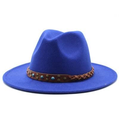 CDYEGSJ Fedora Sombrero Mujeres Invierno Sombreros de Color sólido Color Ancho Jazz Iglesia Mujeres Hombres Verde Blanco Vaquero británico Caballeros Fieltro Sombreros (Color : 1)