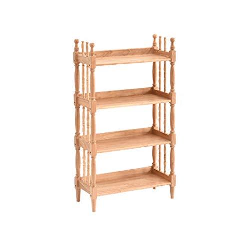 Librero Creativa moderna librería estudiantes dormitorio simple de madera maciza Estantería Vitrina Sala de almacenamiento en rack de plataforma abierta Estantería para Libros ( tamaño : Four floors )
