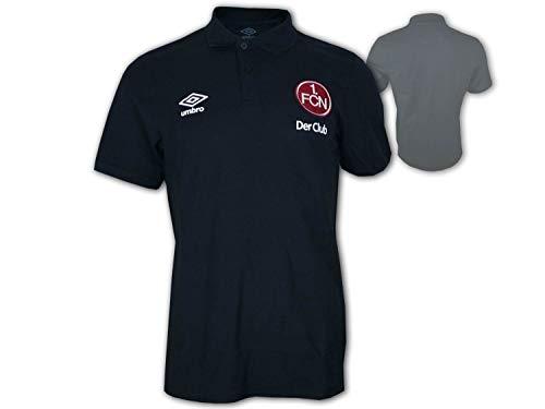 UMBRO 1.FC Nürnberg Travel Poloshirt schwarz Der Club Fan Polo FCN Jersey, Größe:XXL