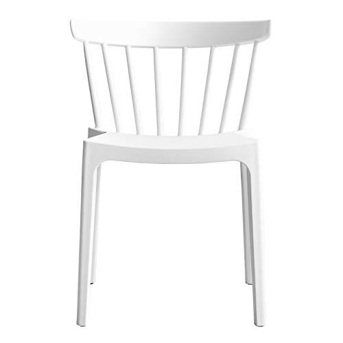 Kenay Home Nobu Silla Salón Comedor, Blanca, 53x74,5x53,5cm (WxHxD) ✅