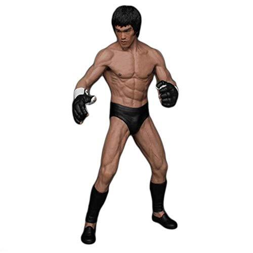 Goaoy Figure Model Collectible Figurine Decoration Ornaments Collectibles Toy Character ModelLa Statue de Bruce Lee mesure environ 19 cm de Haut