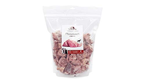 TACKENBERG Barf Hundefutter (Pferdefleisch in Würfeln), Barf Futter, Barf Fleisch Hunde