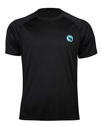 STARK SOUL Herren Sportshirt, Kurzarm Trainingsshirt Laufshirt Männer Shirt Fitness T-Shirt Mesh Funktionshirt Training Running