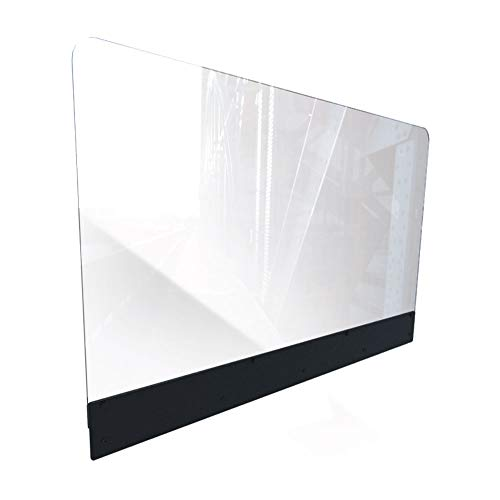Sneeze Guard for Restaurants (44'W x 24'H), Plexiglass Shield Booth Partition, Clear Acrylic Plastic Barrier for Restaurant Booths, Back Mounted, Easy Install, Includes All Hardware [Made in USA]