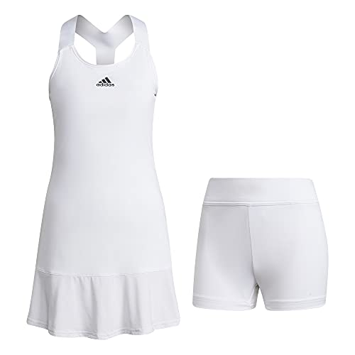 adidas Women's Standard Tennis Y-Dress, White/Black, Medium
