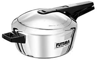 Hawkins-Futura F-41 Induction Compatible Pressure Cooker, 4-Liter, Stainless Steel by Hawkins/Futura