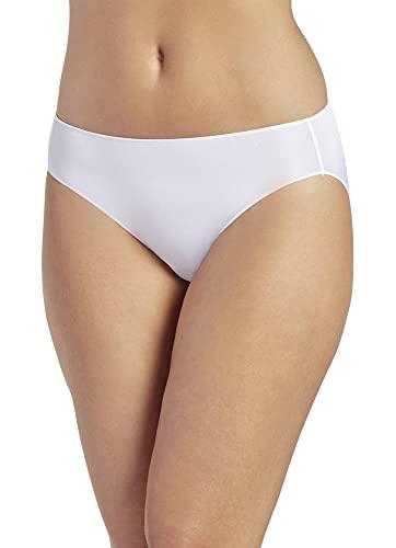 Jockey Damen Unterwäsche No Panty Line Promise Tactel Bikini, Weiß, 5