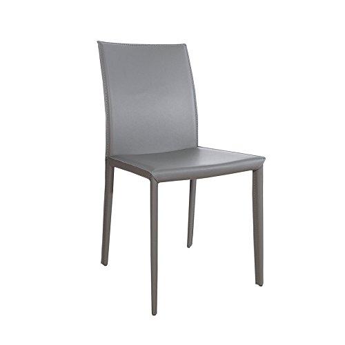 Invicta Interior Stuhl Milano grau Besucherstuhl Küchenstuhl Esszimmerstühle Stühle Stapelstuhl