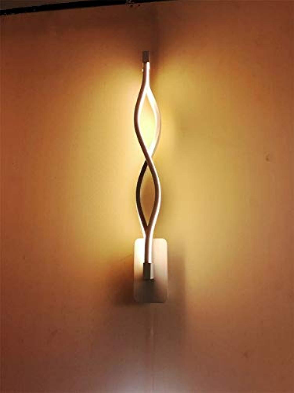 JDFM5 LED Wandleuchte aus Aluminium, warmes Licht 16W schwarz Wandlampe Innen Design für Schlafzimmer Wohnzimmer Wandstrahler mit modern Stil Beleuchtung Wandlicht Bad Treppenhaus Wandleuchte