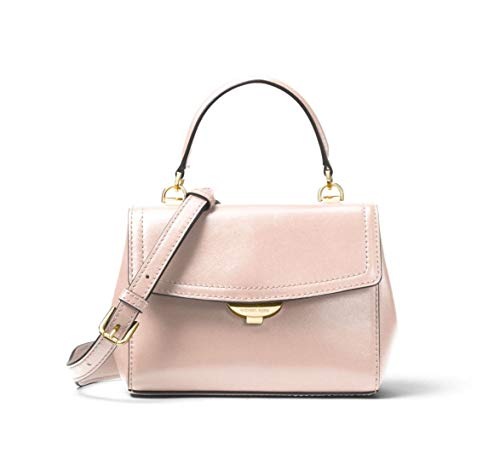 MICHAEL Michael Kors Ava Extra-Small Leather Crossbody in Soft Pink
