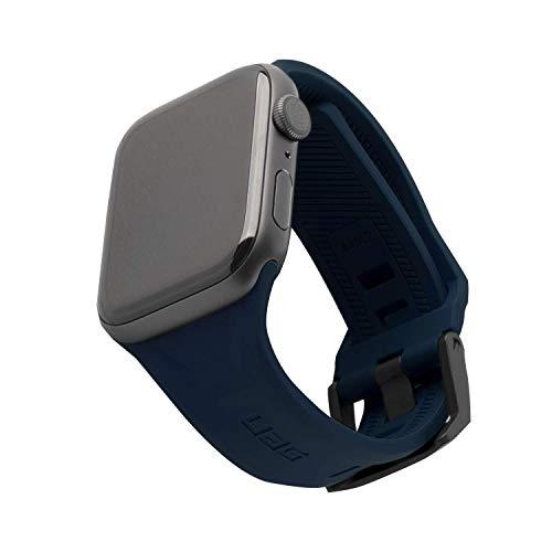 Urban Armor Gear Scout Correa para Reloj Apple Watch 42mm / 44mm [Watch SE, Series 6 / Series 5 / Series 4 / Series 3 / Series 2 / Series 1, Silicona Blanda, Cierre de Acero] Azul