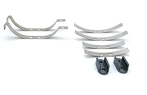 LUOERPI Für WPL D-12 D12 RC Auto Ersatzteile Original Stahlplatte Spezialmetall Hinterachse Blattfeder für Original-Fahrzeug (Farbe: 1 Set)