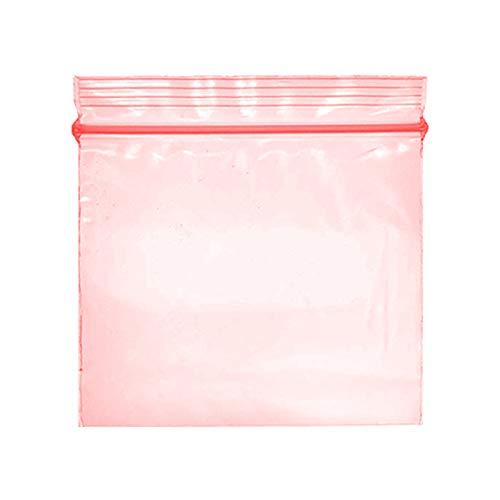Piccoli sacchetti di plastica da 300 - 30x30mm con chiusura a zip, diversi colori e design - Scegli la tua opzione (Rosso)