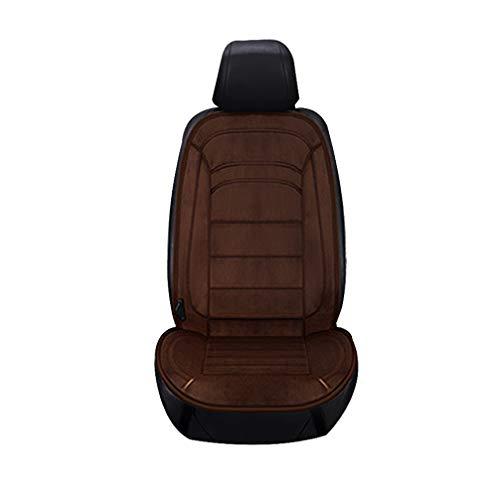 Wakauto Automatische beheizte Auto Sitzkissen 12 V beheizte Auto Sitzbezug Universal Auto Sitz wärmer für Auto LKW SUV MPV Front Stuhl (Kaffee)