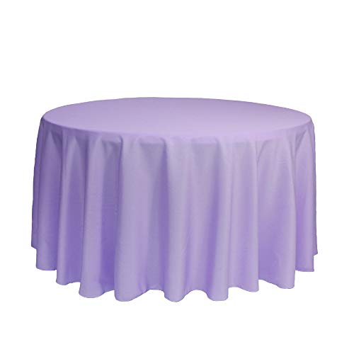 Your Chair Covers - 120 Inch Round Premium Polyester Tablecloth - Lavender, Linen Table Cloth for Standard Round Tables