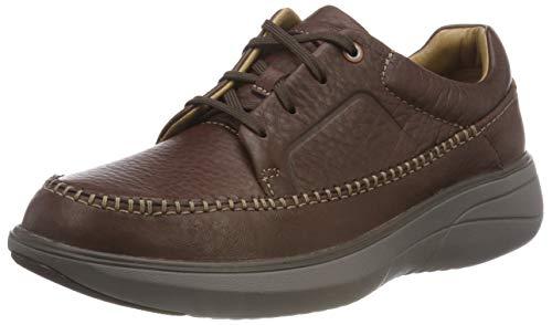 Clarks Un Rise Lace, Zapatos de Cordones Derby para Hombre, Marrón (Mahogany), 47 EU
