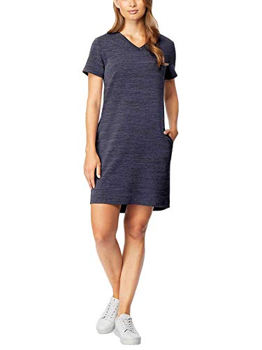32 DEGREES Cool Women's Relaxed Fit Pullover Dress (Skipper Blue, S)