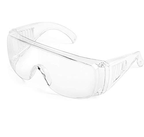 TEKSHOPPING Paia di Occhiali di Protezione Sicurezza Protettivi Plastica Mascherina Protection Glasses Antiappannamento Anti Spruzzi Leggeri Unisex