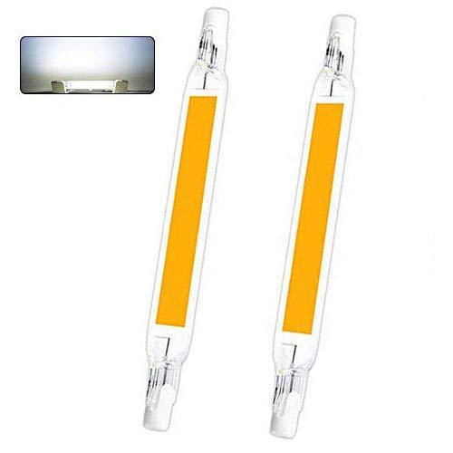 AEUWIER R7S LED 118mm Blanco Frio 6000K, 1300LM, 15W para Sustitución de Halógeno de 100W 120W, 360 Grados Luz, No Regulable para Plafones, Lámpara en el Baño, pack de 2