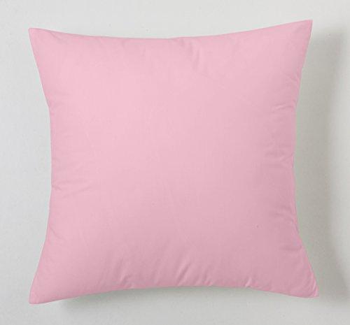 ES-TELA - Funda de cojín COMBI LISOS color Rosa - Medidas 40x40 cm. - 50% Algodón-50% Poliéster - 144 Hilos