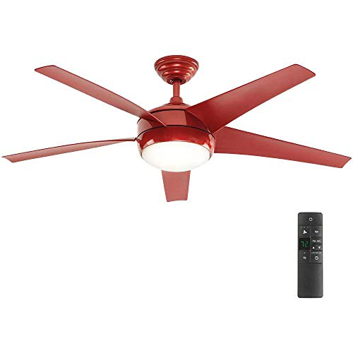 Home Decorators Collection Windward IV 52 in. LED Indoor Red...