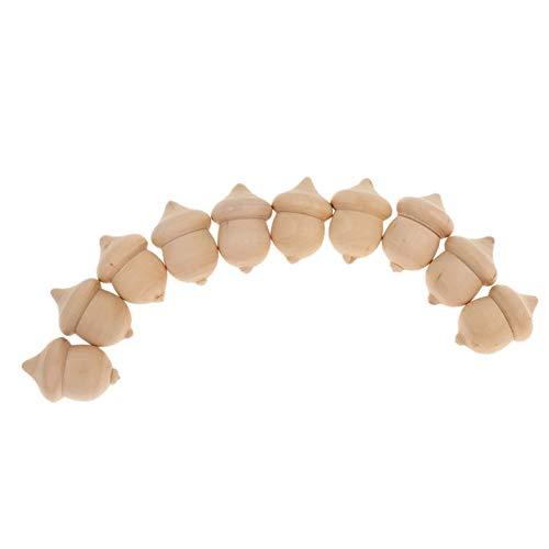10 piezas de madera sin terminar decorativa novedad Waldorf mesa bellotas arte de madera sin terminar fiesta de boda accesorios de otoño