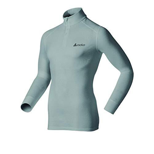 Odlo - Tee Shirt Warm 1/2 Zip Homme XXL - Gris