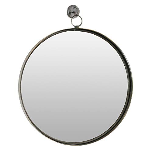 Aspire Bescott Suspended Round Wall Mirror, Brown