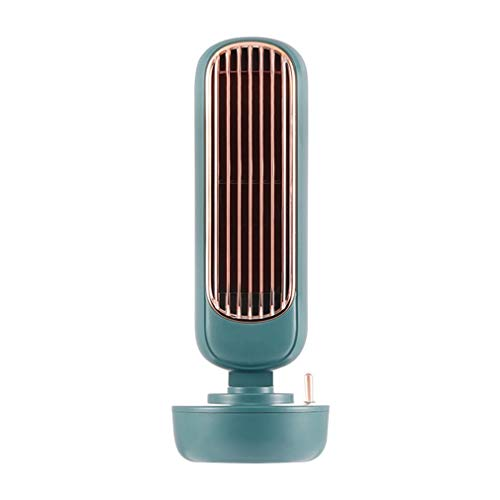 RHNE Mini Ventilador de Aire Acondicionado para Estudiantes Enfriador de Escritorio con USB y rociador para Oficina con Ventilador de refrigeración por Agua Verde