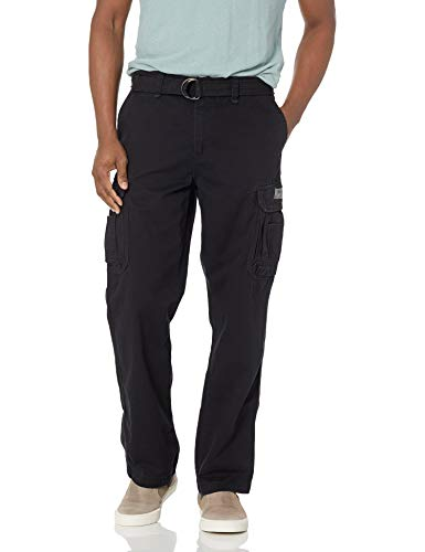 Unionbay Men's Survivor Iv Relaxed Fit Cargo Pant - Reg and Big and Tall Sizes, Black, 36x30