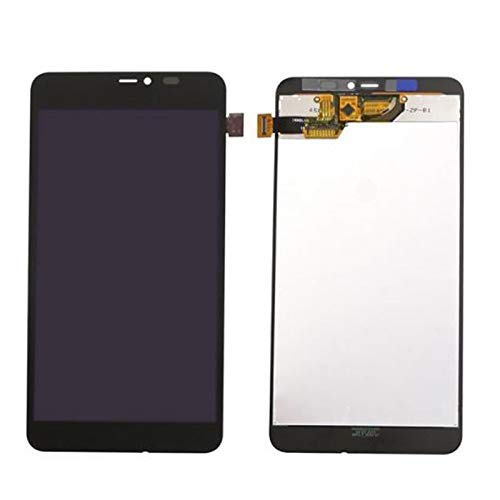 Pantallas LCD para teléfonos móviles Pantalla LCD con Montaje digitalizador de Pantalla táctil/Ajuste para Microsoft Nokia Lumia 640XL 640 XL (Color : Black)