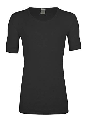 Angora wobera Herren-Unterhemd mit ½ Arm 50% Angora (X-Large, schwarz)