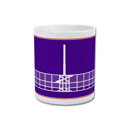 GroundDesigns ACF Fiorentina - Taza con diseño gráfico de fútbol, diseño de fútbol