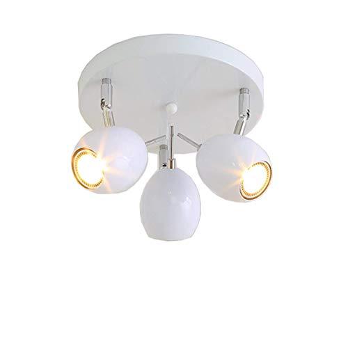 LED plafondlamp zwenkbaar 3-spots met afneembare plafondspot woonkamer plafondspot moderne plafondspot plafondspot plafondspot metaalkleur wit [energieklasse A ]