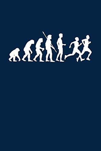 Evolution Läufer: Notizbuch / Notizheft für Laufen Jogger-in Jogging Läuferin A5 (6x9in) liniert mit Linien