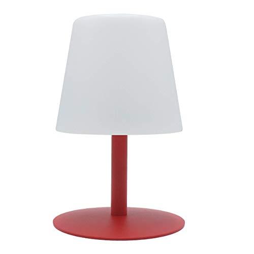 Lumisky - Lámpara de mesa de jardín con luz blanca inalámbrica con batería STANDY Mini Love con LED 26 cm, ABS, rojo, 15 x 15 x 26 cm