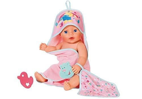 BABY Born Bath Handtuch mit Kapuze und Schwamm