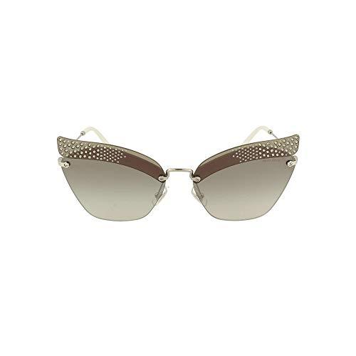 miu miu luxe mode dames 56TSSOLEKJH5O0 zilveren zonnebril | lentezomer 20