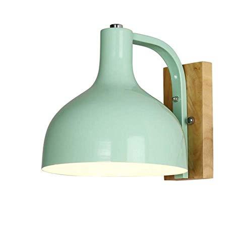 BOSSLV Lampes Murales de Lavage Lampes Appliques Murales Applique Contemporaine Minimaliste en Bois Massif Simple Tête Bar Etude Couleur
