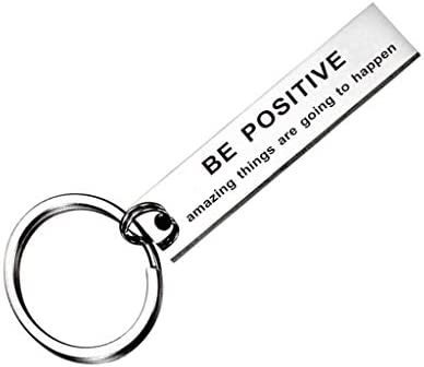 Be Positive Amazing Things are Going to Happen Keychain Simple Truths Charm Pendant Gift product image